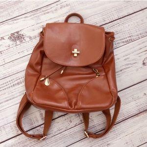 Caramel Vegan Leather Everyday Boho Backpack